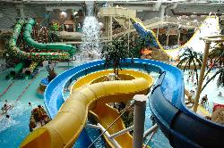 Enjoy a tropical paradise at the Sandcastle Waterpark